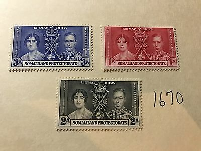 SOMALI LAND PROTECTORATE 1937 CORONATION unused  lot  (1670)