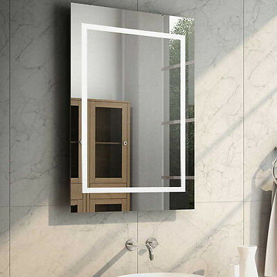 Light Mirrors Enlighten Range Bathroom Mirror Halo with Demister & Shaver Socket
