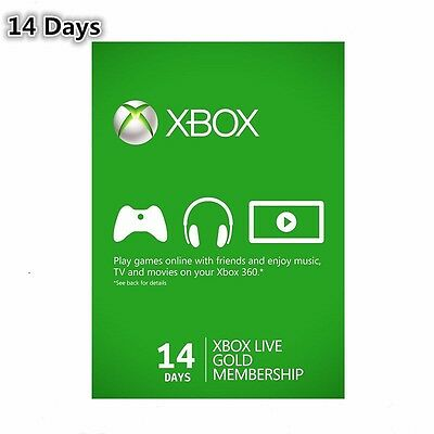 X Box Live 14 Day (2 Weeks) Gold Trial Membership Fast Dispatch