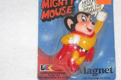 Vintag3 1994 Mighty Mouse Refrigerator Magnet New NIP 1994