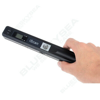 HD 900DPI Handheld Portable iScan Document Book Photo Wireless A4 Color Scanner