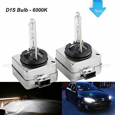 D1S 35W Car HID Xenon Headlight Bulbs Replacement for Philips or OSRAM 6000K x2