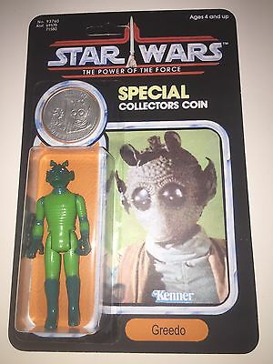 Vintage Star Wars action figure Greedo Power Of The Force POTF