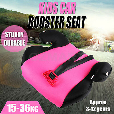 Car Booster Seat  Safe Sturdy Baby Child Kid Child 3 To 12 Years Pink Safey AU