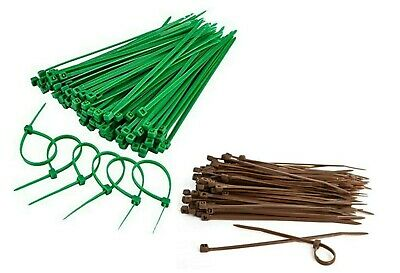 Garden green or brown cable ties 4 inches to 14 inches cable tidy plant training