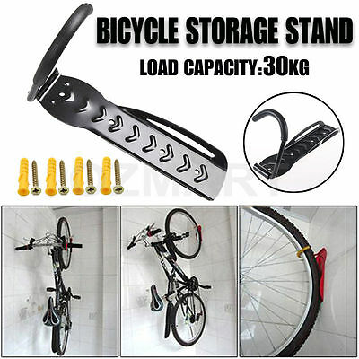 Bicycle Wall Rack Mount Bike Storage Strong Steel Hanger Hook Garage Black AU
