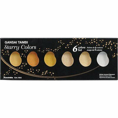"ZIG Kuretake Gansai Tambi ""Starry Colors"" 6 colours set"