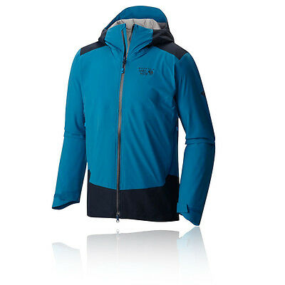 Mountain Hardwear Torzonic Hombre Azul Impermeable Running Capucha Chaqueta Top