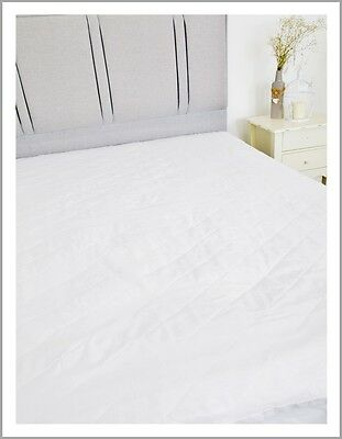 Slight Second Quilted Pollycotton Hollowfibre Elasticated Mattress Protector