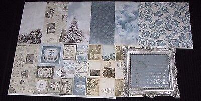 """Kaisercraft 'FROSTED' 12x12"""" Paper Christmas/Snowflake (You choose) KAISER"""