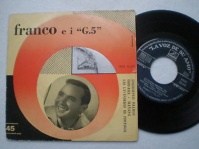 FRANCO E I G.5 Unchained Melody SPAIN EP 1950s