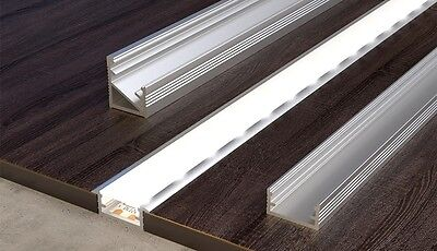 1 Meter Aluminium  channel for LED Strip Light with Cover PVC profile