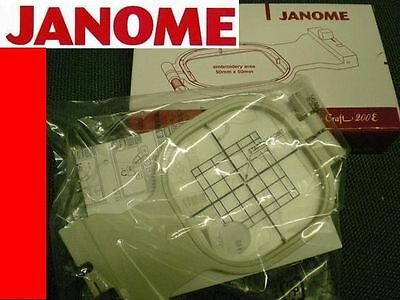 """JANOME 200e Small Embroidery Hoop 100% GENUINE  50mm x 50mm 2""""x 2"""" - Elna emb81"""