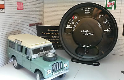 Land Rover Series 2a 3 Jaeger Smiths Fuel Temp Gauge Panel Complete OEM 560744