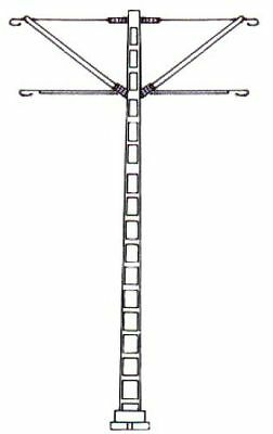 hobbex Overhead Line,6 Track Poles, Construction Material For Double Cantilever