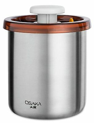 NEW Osaka Vacuum Sealed Canister. Stainless Steel Storage Container for Coffee