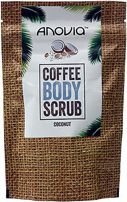Anovia Coconut Coffee Body Scrub 150g- Robusta Coffee Beans, Made in UK