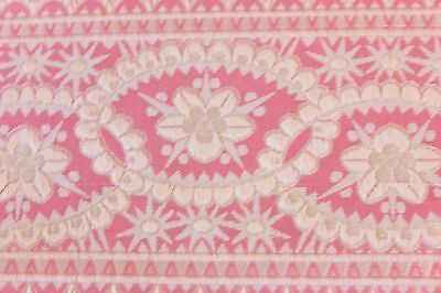 French Antique Pink Silk Wide Victorian Ribbon Sample c1870-1880~Dolls, Frame