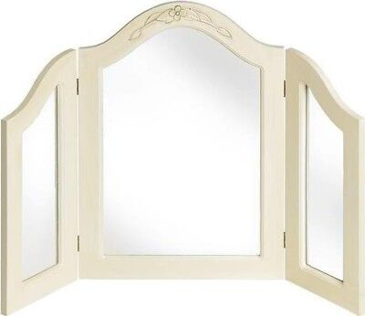 Country 3 Way Dressing Table Mirror Shabby Chic - Vintage - Distressed