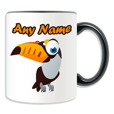 Personalised Gift Toco Toucan Mug Money Box Cup Animal Insect Design Theme Bird