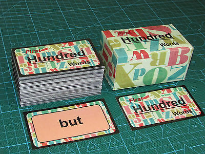 First 100 Words (Literacy Flash Cards) HIGH FREQUENCY PHASE 2-5 RECEPTION EYFS!