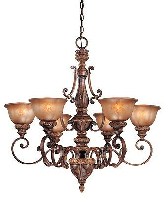Minka Lavery 1356-177 Illuminati 6-Light 1-Tier Chandelier - Illuminati Bronze