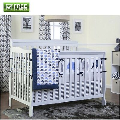 Convertible Baby Bed Grey 5-in-1 Full Size Crib Nursery Bedroom Furniture New!