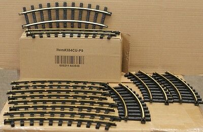 New Bright G Scale 9 pc.Curved Track Sections #384CU indoor outdoor 3808
