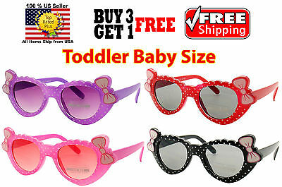 Kids Children Toddler Girls Cute Bows Polka Dots Multi Colors Sunglasses Shades