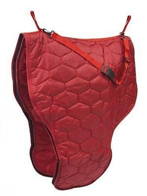 Showman RED Quilted 420 Denier Nylon Zippered Western Saddle Bag Padded Lining