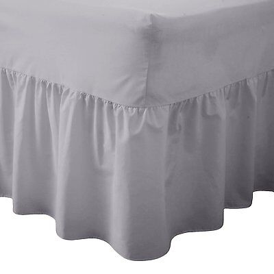 New Plain Dyed Fitted Valance Sheet Poly-Cotton Bed Sheet Single Double & King