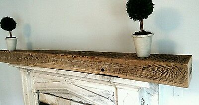 Genuine Reclaimed American Chestnut Barn Beam Mantel Mantle Shelf