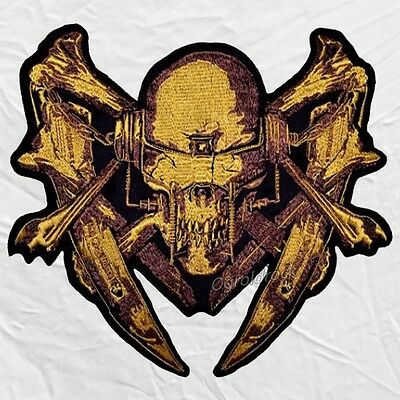 Megadeth Skull & Guillotines Logo Embroidered Big Patch Dave Mustaine for Back