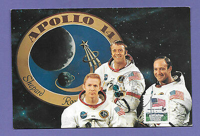 Apollo 14 Crew 1971 Us Space Program Original Vintage Old Postcard Uc