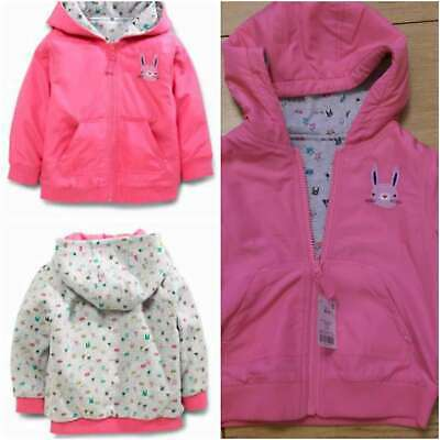 Next Girls SWEET PEA RANGE Reversible Pink Coat Jacket 6-9 9-12 months BNWT