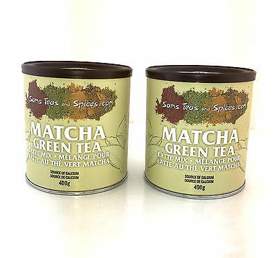 Matcha Green Tea Latte Ready Mix  by Sams Teas And Spices 2 X 400g (800g) New