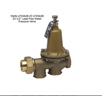"Watts 0009217 LF25AUB-Z3 1/2"" Lead Free Water Pressure Reducing Valve"