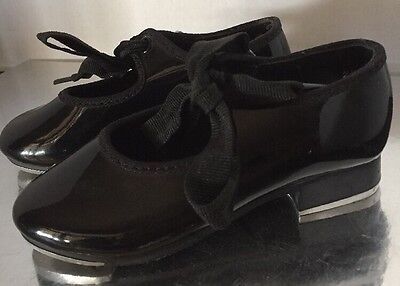 Black Patent Leather Tie Mary Jane Dance Tap Shoes Size 7  Technotap Girls BLOCH