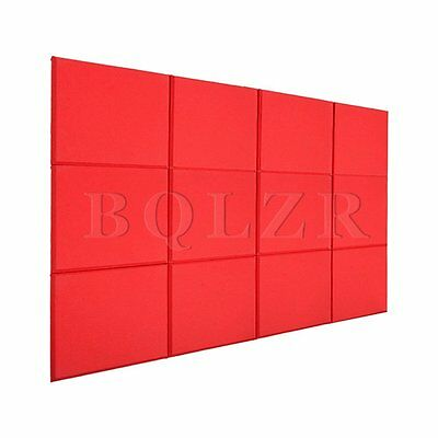 12xBQLZR Studio Acoustic Sound Absorption Treatment Panel Tile Wedge Red