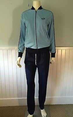 Vintage Sunbelt Jogging Track Warm Up Sweat Suit Jacket & Pants Set Size Small