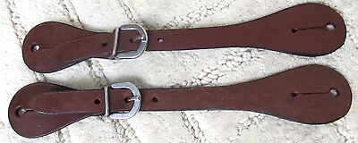 Ladies/Youth Medium Oil Smooth Leather Western Spur Straps Pair New