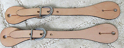 Ladies/Youth Light Oil Smooth Leather Western Spur Straps Pair New