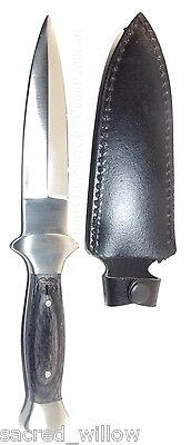 "Black Faux Wooden Handled Athame 9"" Wicca Dagger Altar Pagan Witch Knife Spell"