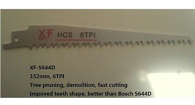 5 PCS PACK S644D 6TPI 152mm Reciprocating Saw Blade DEMOLITION WOOD PRUNING Tree