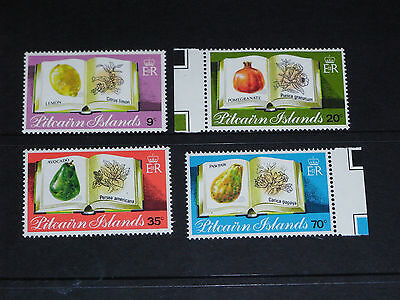 Pitcairn Islands 1982 Fruit Set Of 4  Fine M/n/h Cond