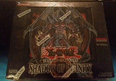 Yugioh Shadow of Infinity New Factory Sealed 1st Edition GEM Mint condition Rare