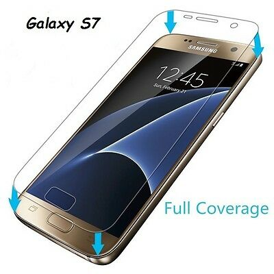 Tempered Glass Screen Full Size Film Protector Cover Guard For Samsung Galaxy S7