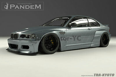 FRP Greddy Pandem Front Rear Over Fender Flare For 98-05 BMW E46 3Series & M3 2D