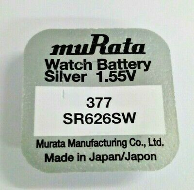 1 x Sony Watch Battery Cell Button Silver-Oxide 1.55v-377 SR626SW AG-4 377 bat