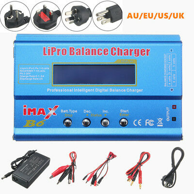 iMAX B6 DIGITAL LCD RC LIPO NiMh Batterie Balance Chargeur 80W + AC Adapteur NEW